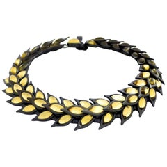 Vintage YSL Yves Saint Laurent Citrine Wheat Necklace by Robert Goossens