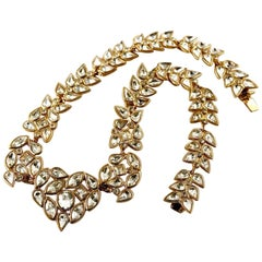 Vintage YSL Yves Saint Laurent Robert Goossens Rhinestone Heart Necklace