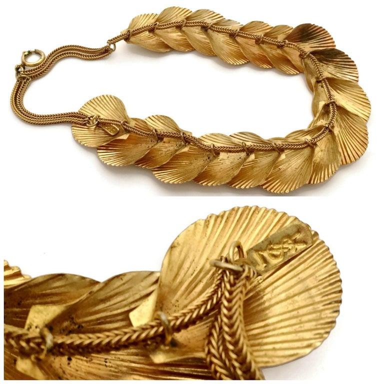 Vintage YSL Yves Saint Laurent Robert Goossens Scallop Shell Choker Necklace For Sale 1