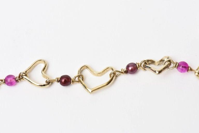 Yves Saint Laurent Black and Purple Glass 6 Strand Rare Necklace Vintage For Sale 2