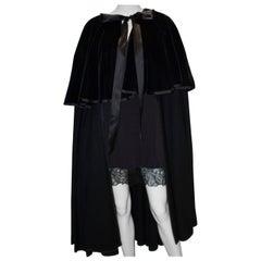Vintage Yves Saint Laurent Black Evening Cape