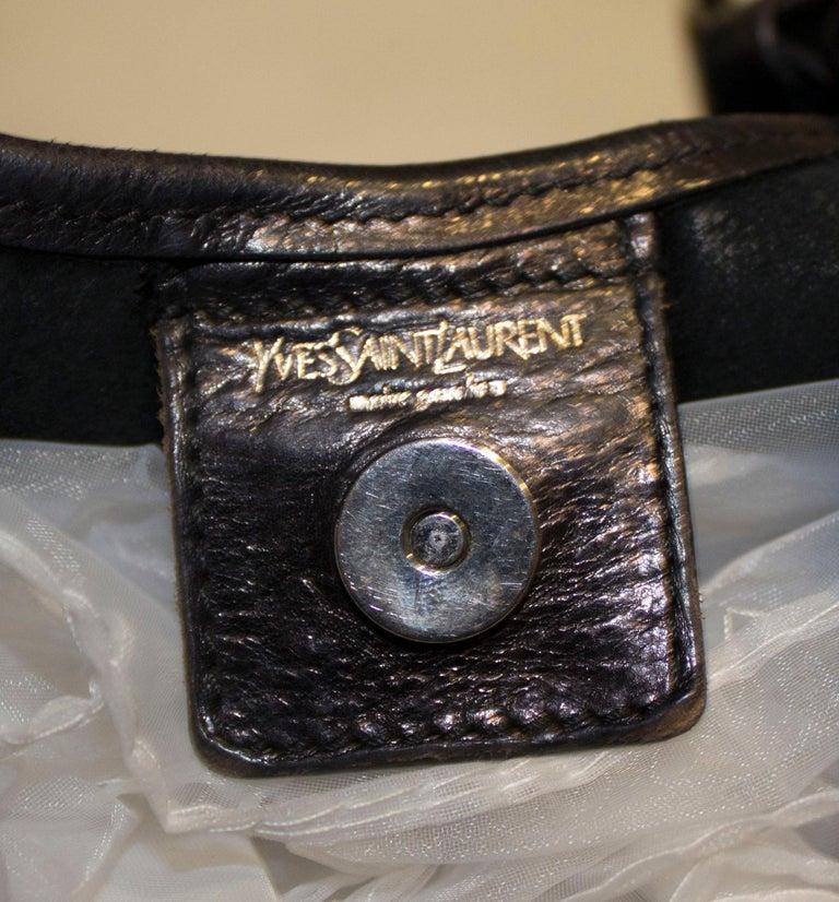 Vintage Yves Saint Laurent black Leather Mombasa Bag For Sale 5