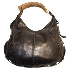 Vintage Yves Saint Laurent black Leather Mombasa Bag