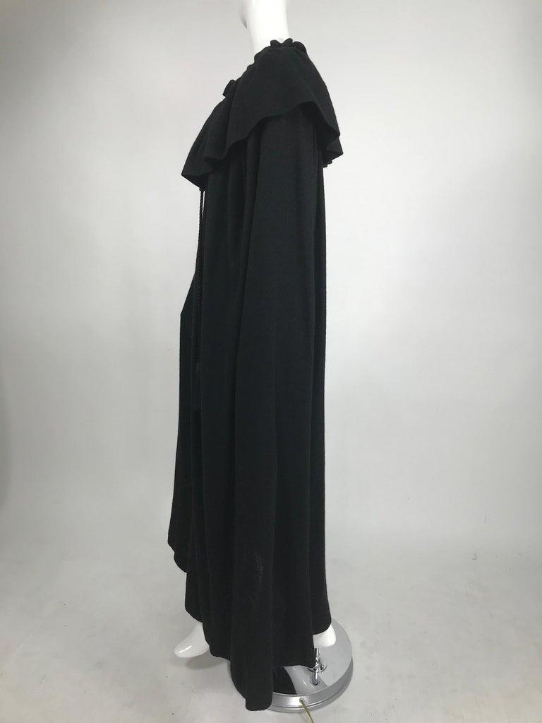 Women's or Men's Vintage Yves Saint Laurent Black Wool Cape 1970s For Sale