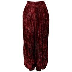 Vintage Yves Saint Laurent Burgundy Velvet Harem Pants