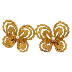 Vintage YVES SAINT LAURENT Butterfly Earrings by Robert Goossens