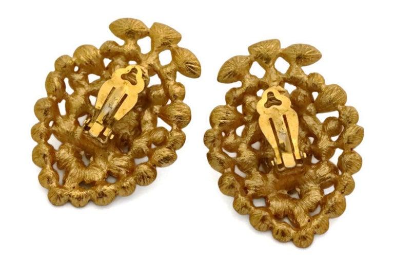 Vintage YVES SAINT LAURENT by Robert Goossens Multi Jewelled Earrings For Sale 1