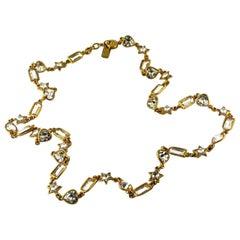 Vintage YVES SAINT LAURENT by Robert Goossens Rhinestones Sautoir Long Necklace
