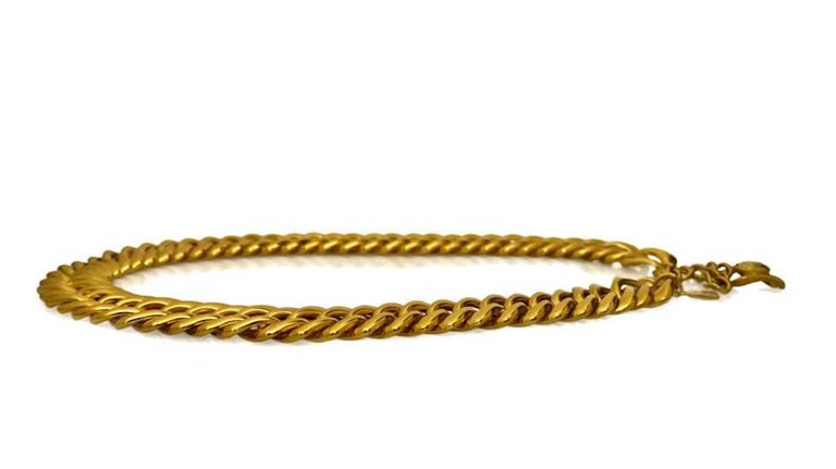 Vintage YVES SAINT LAURENT Chunky Chain Necklace Belt For Sale 1