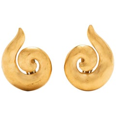 Vintage Yves Saint Laurent Clip-On Earrings