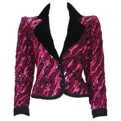 Vintage Yves Saint Laurent Couture Numbered Fully Embellished Blazer Jacket