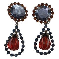 Vintage Yves Saint Laurent Dropped Glass earings