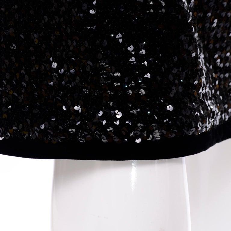 Vintage Yves Saint Laurent Evening Dress Alternative Black Skirt Suit W/ Sequins For Sale 3