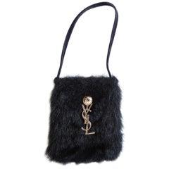 Vintage Yves Saint Laurent Faux Fur Bag