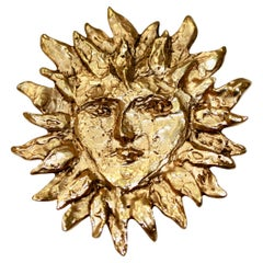Vintage Yves Saint Laurent For Goossens Sun Brooch