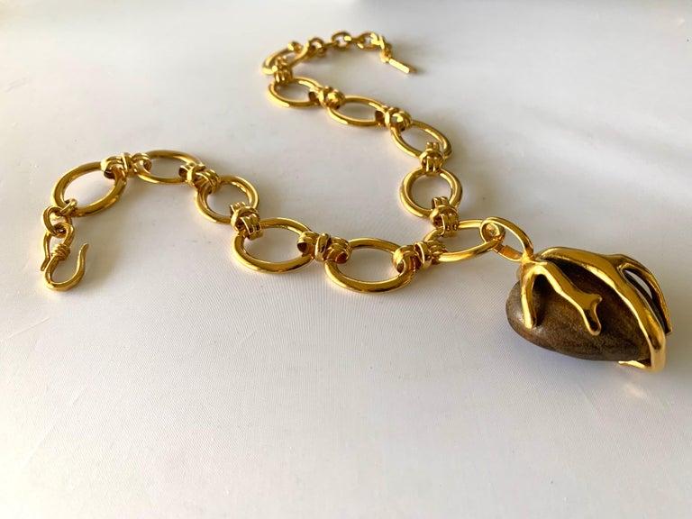 Women's Vintage Yves Saint Laurent Heart Necklace For Sale