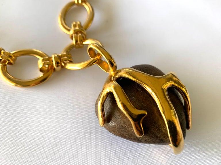 Vintage Yves Saint Laurent Heart Necklace For Sale 1
