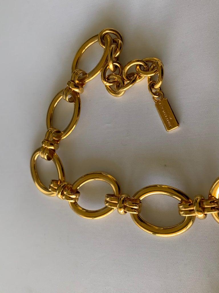 Vintage Yves Saint Laurent Heart Necklace For Sale 3