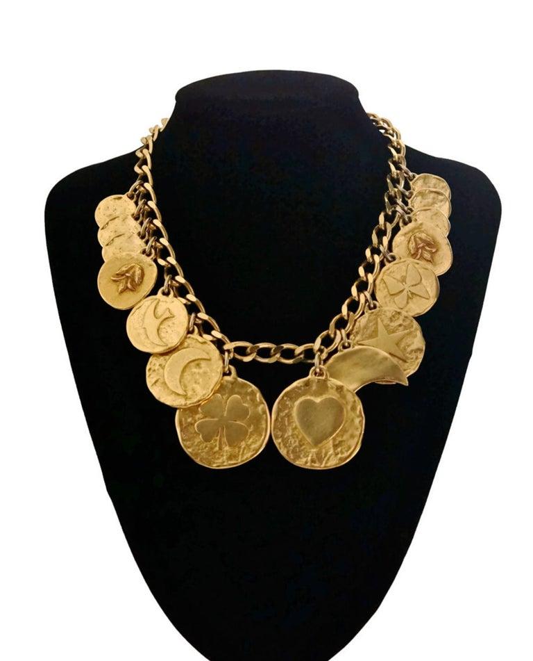 Women's Vintage YVES SAINT LAURENT Iconic Charm Necklace For Sale