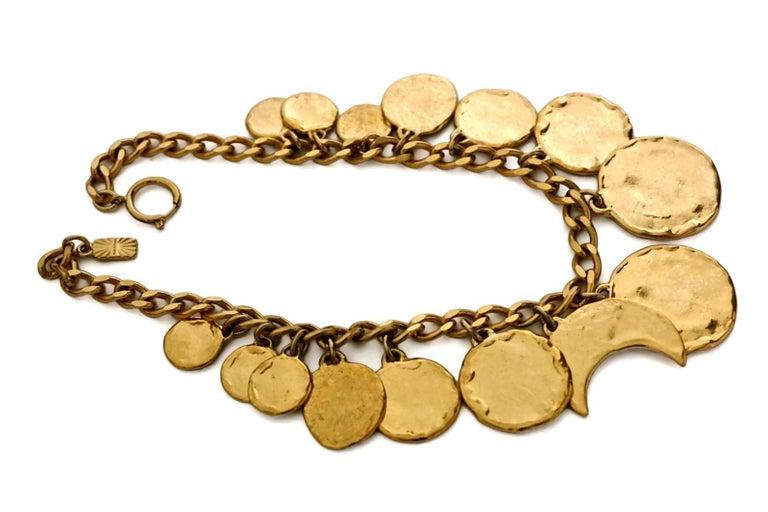 Vintage YVES SAINT LAURENT Iconic Charm Necklace For Sale 1