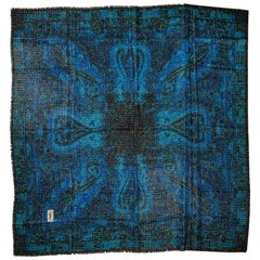 Vintage Yves Saint Laurent Iconic Lurex Blue Shawl