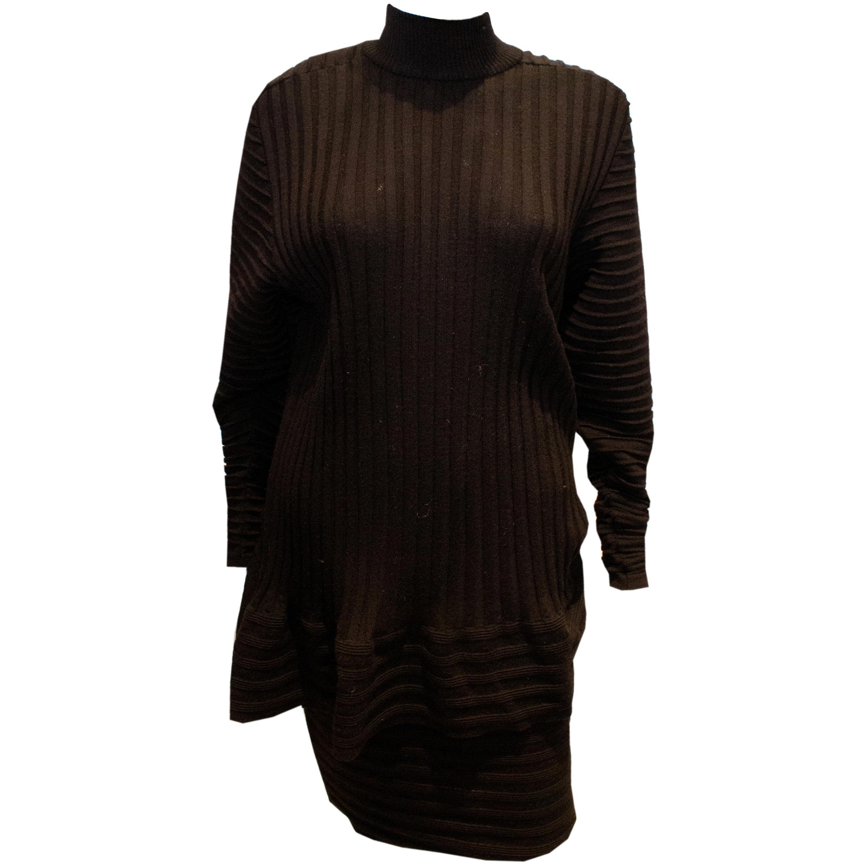 Vintage Yves Saint Laurent Knitted Tunic/Mini Dress