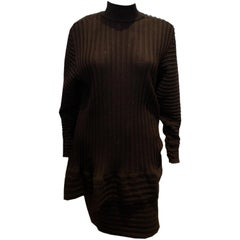 Vintage Yves Saint Laurent Knitted Tunic/Mini Dress