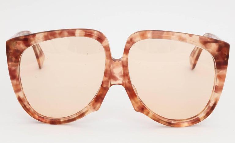 Vintage Yves Saint Laurent Large Sunglasses For Sale 1
