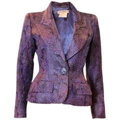 Vintage Yves Saint Laurent Lilac and Black Jacket