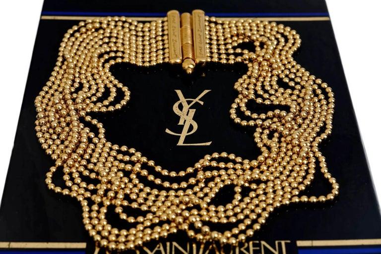 Women's Vintage YVES SAINT LAURENT Multi Layer Chain Necklace For Sale