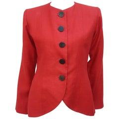 Vintage Yves Saint Laurent Orange Linen Jacket