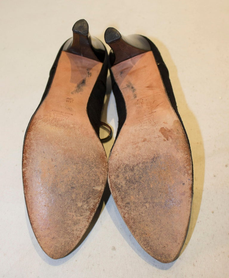 Vintage Yves Saint Laurent Paris Shoes in Black Patent and Suede, For Sale 2