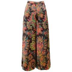 Vintage Yves Saint Laurent Psychedelic Acid Paisley Pants 1970s