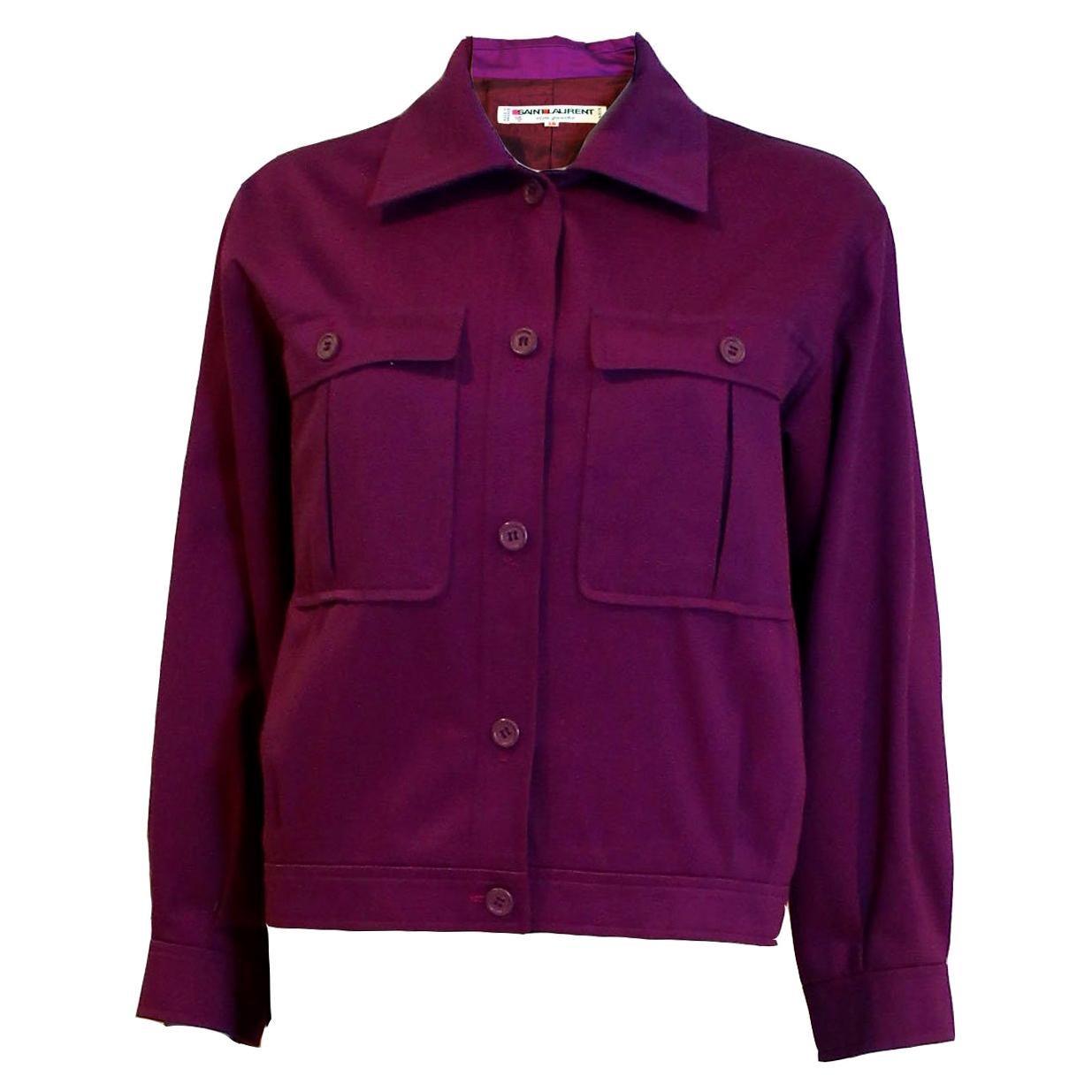 Vintage Yves Saint Laurent Purple Jacket