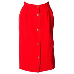 Vintage Yves Saint Laurent Red  Skirt