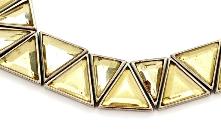 Women's or Men's Vintage YVES SAINT LAURENT Resin Geometric Necklace by Robert Goossens For Sale