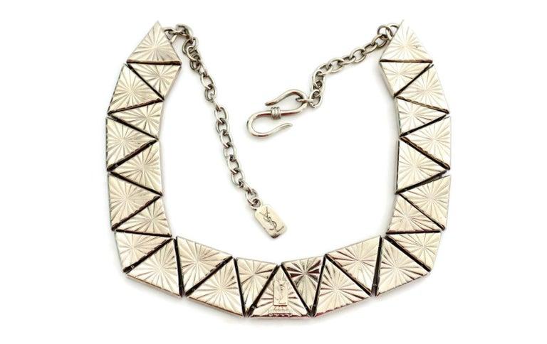 Vintage YVES SAINT LAURENT Resin Geometric Necklace by Robert Goossens For Sale 1