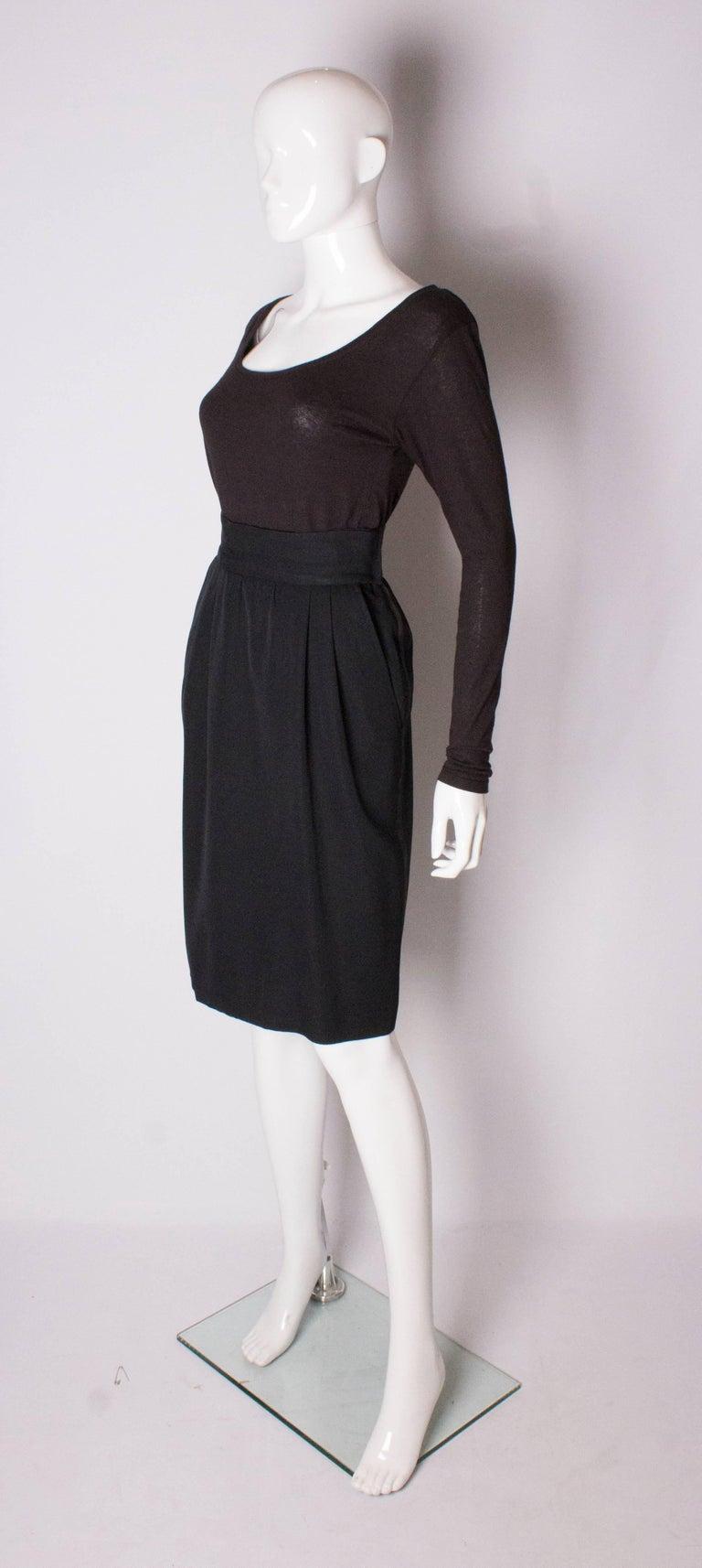 Black  Vintage Yves Saint Laurent  Rive Gauche Le Smoking Skirt For Sale