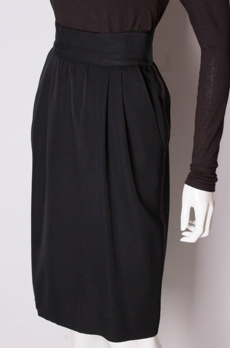 Vintage Yves Saint Laurent  Rive Gauche Le Smoking Skirt In Good Condition For Sale In London, GB