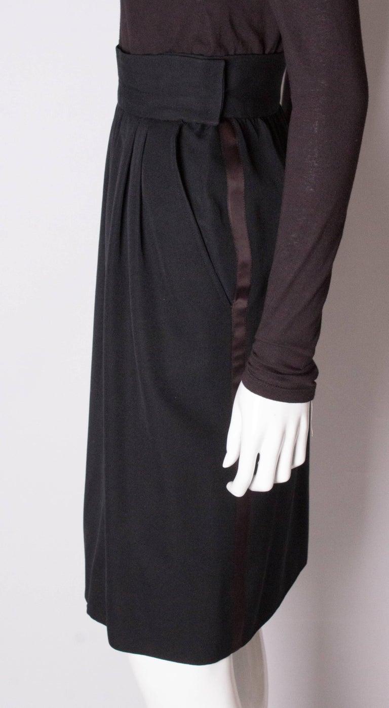 Vintage Yves Saint Laurent  Rive Gauche Le Smoking Skirt For Sale 1
