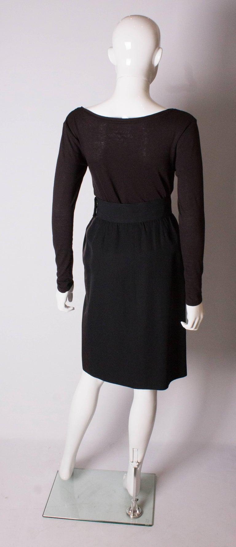 Vintage Yves Saint Laurent  Rive Gauche Le Smoking Skirt For Sale 2