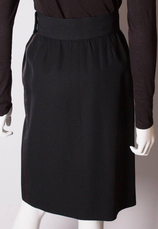 Vintage Yves Saint Laurent  Rive Gauche Le Smoking Skirt For Sale 3