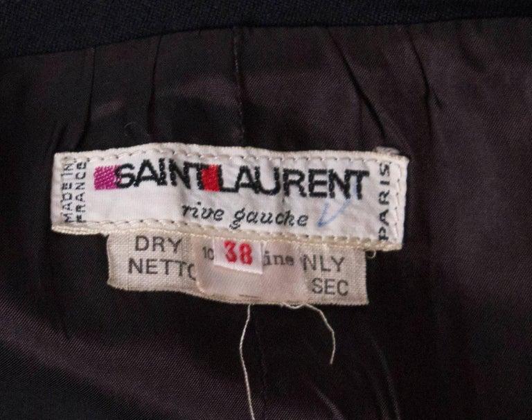 Vintage Yves Saint Laurent  Rive Gauche Le Smoking Skirt For Sale 4