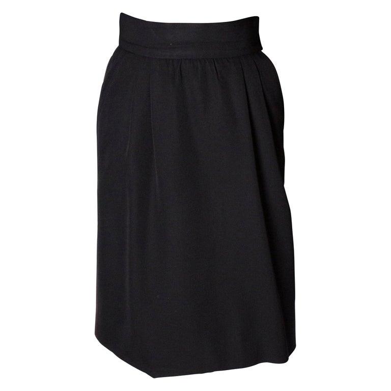 Vintage Yves Saint Laurent  Rive Gauche Le Smoking Skirt For Sale