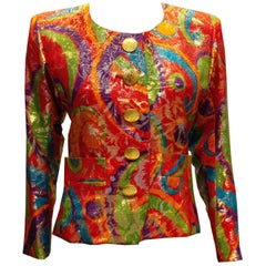 Vintage Yves Saint Laurent Rive Gauche Multi Colour Jacket