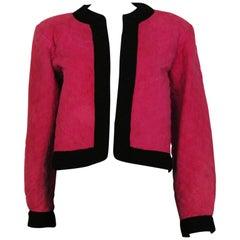 Vintage Yves Saint Laurent Rive Gauche Pink Suede Jacket