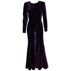 Vintage Yves Saint Laurent Rive Gauche Velvet Gown