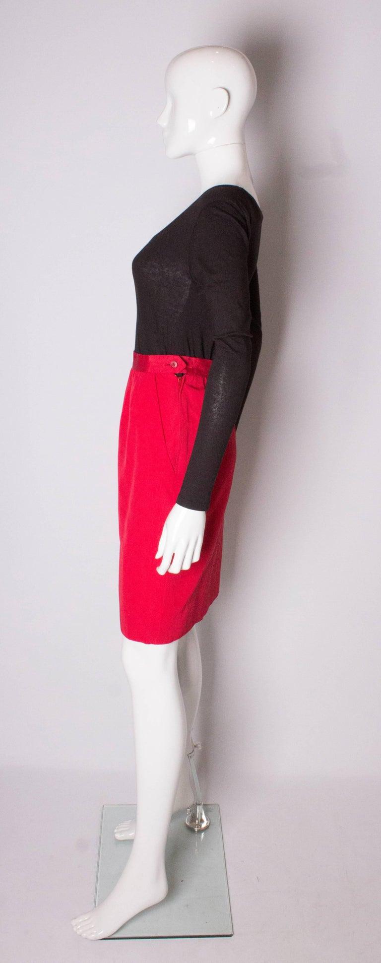 Women's Vintage Yves Saint Laurent, Rive Gauche Vintage Red Skirt For Sale