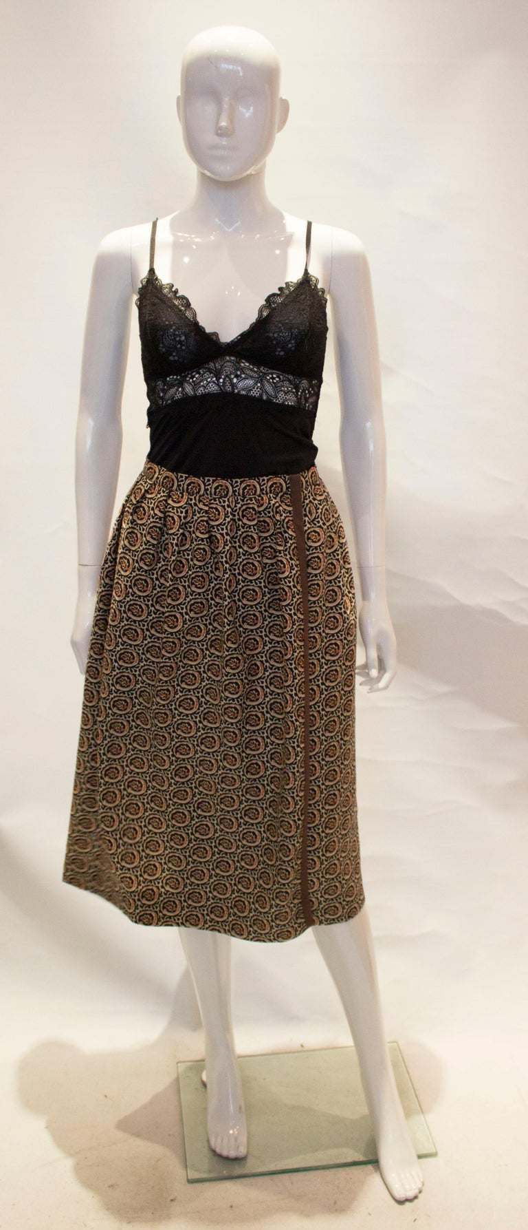 A great vintage skirt for Fall from Yves Saint Laurent., Rive Gauche line.