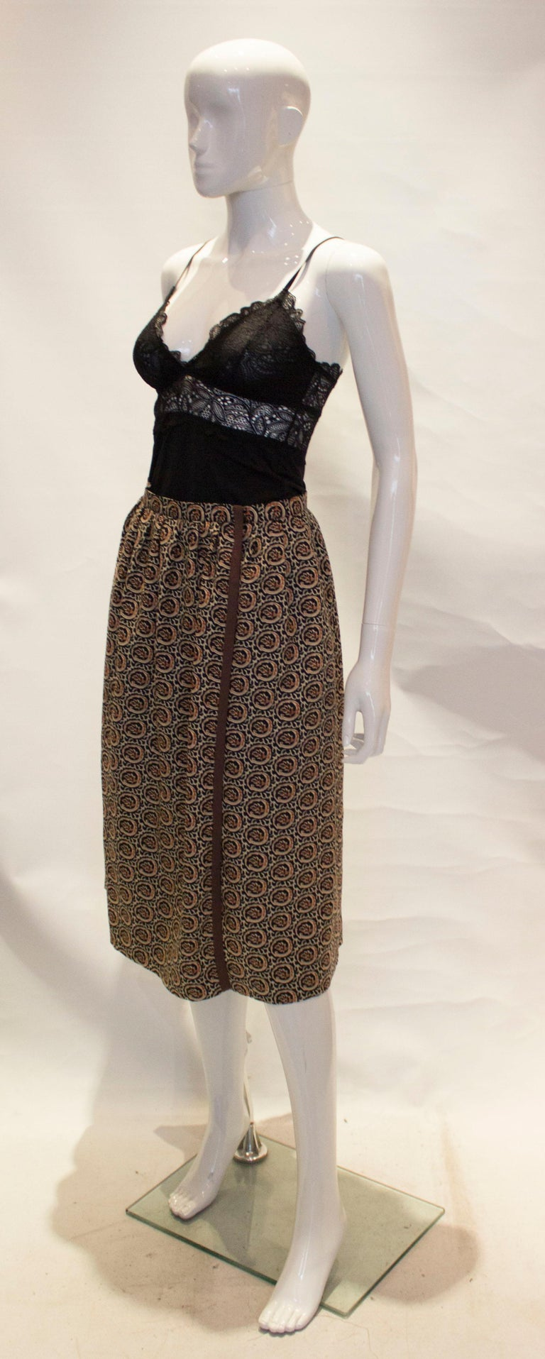 Vintage Yves Saint Laurent Rive Gauche Wrap Over Skirt In Good Condition For Sale In London, GB